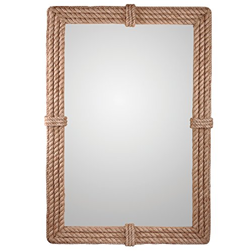 (Kenroy Home 60206 Rudy Wall Mirror, Natural Rope)