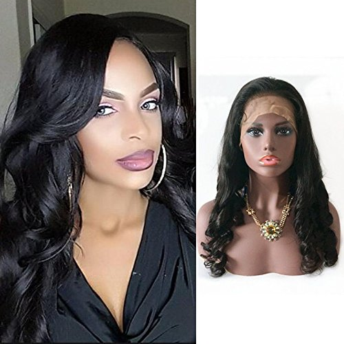 Fanshow Hair Pre Plucked 360 Lace Frontal Wig Loose Wave Brazilian Virgin Hair Glueless 360 Lace Wig with Baby Hair 180 Density (16