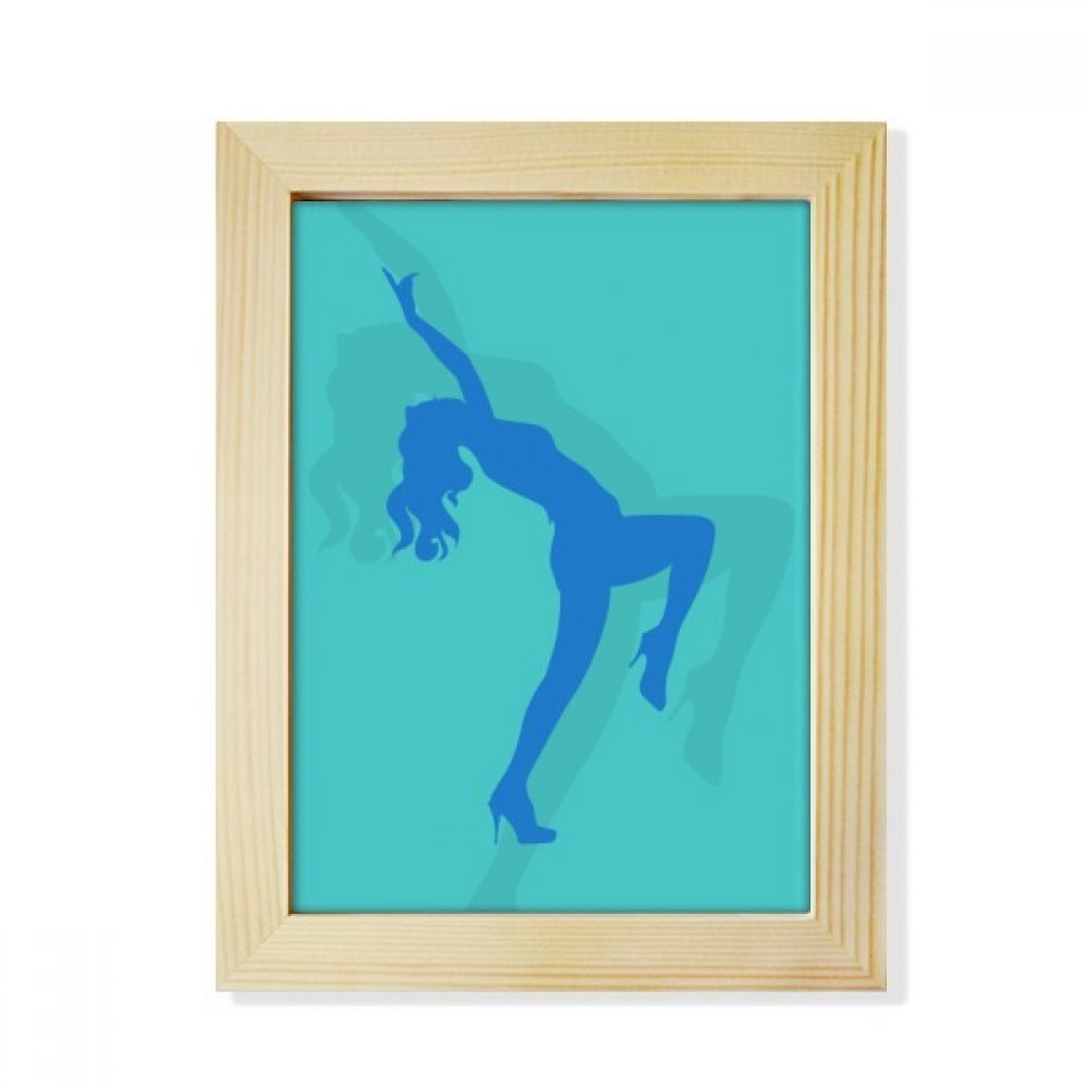 DIYthinker Blue Dances Plump Girl Desktop Wooden Photo Frame Picture Art Painting 6x8 inch