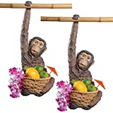 Design Toscano Monkey Business Hanging Sculpture: Set of Two For Sale