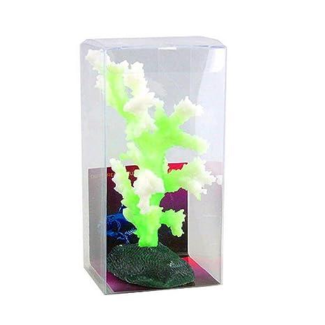 OHlive - Adorno de Coral para Acuario Luminoso y Colorido, para decoración de peceras