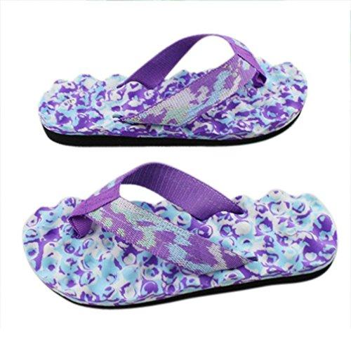 Sandales Chaussures Femmes Extérieures Tongs Et Chaussons D'été Violet Fulltime® Intérieures qfSvE