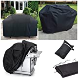 Grill Cover 55 inch, AYAMAYA Waterproof Dustproof Gas Barbecue Smoker Cover Patio Garden Outdoor Cooking Portable BBQ Grill Cover for Weber, Holland, Jenn Air, Brinkmann and Char Broil -[57″x24″x46″]