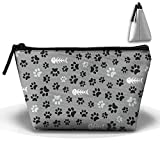 XIANGKESI Unisex Stylish And Practical Messy Dog Footprints And Fish Bones Trapezoidal Storage Bags Handbags