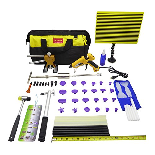 HOTPDR Pdr Dent Repair Kit Auto Body Dent Lifter Glue Puller with Accessories for Hail Damage and Door Dings - PDR Tools (61 Pcs)