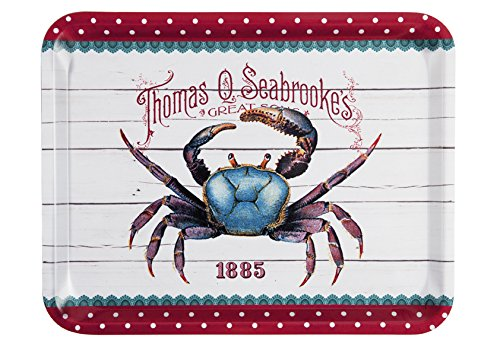 Platex 46 x 36 cm Laminated Tray Fish & Crab, Thom White
