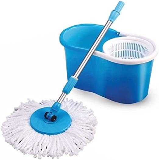 360°Swivel Spinning Mop and Bucket Microfibre Extandable Rotary Spin