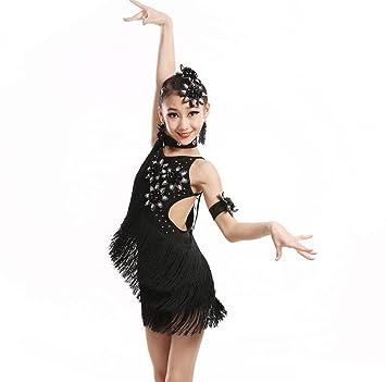 YZLL Disfraz de Baile Latino para niños, Traje de Baile ...