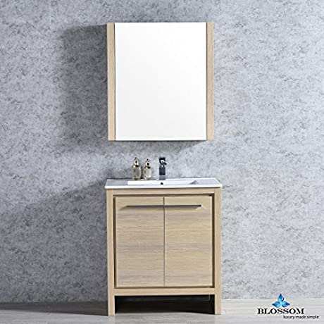 BLOSSOM 014 30 20 M Milan 30 Vanity Set With Mirror Briccole Oak