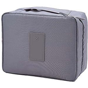 Styleys Nylon & Polyester Toiletry Bag (Grey_S111)