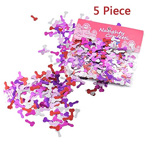 Bachelorette Party Decoration Confetti, Naughty Supplies for Girls Night Out Hen Party Favors -