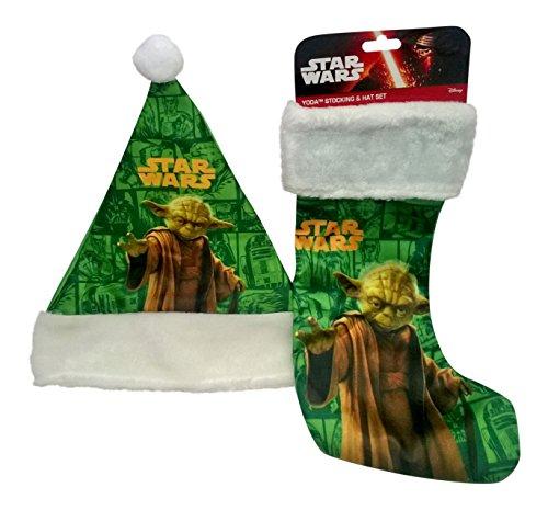 Disney Star Wars Yoda Christmas Holiday Santa Hat (16