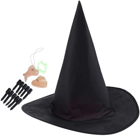 dailymall Sombrero de Brujo para Disfraz de Adulto Niños Halloween ...
