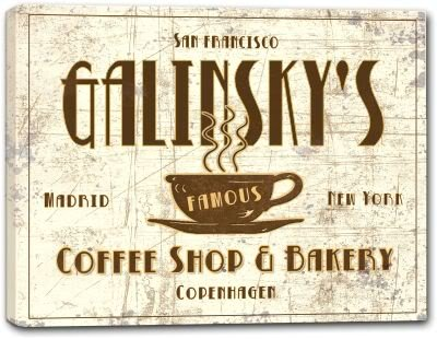 Galinsky Print (GALINSKY'S Coffee Shop & Bakery Canvas Print 24