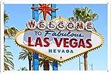World HOPE Art - Las Vegas Tin Sign Unique Wall Decor Metal Poster Wall Plaque (WHA18277)