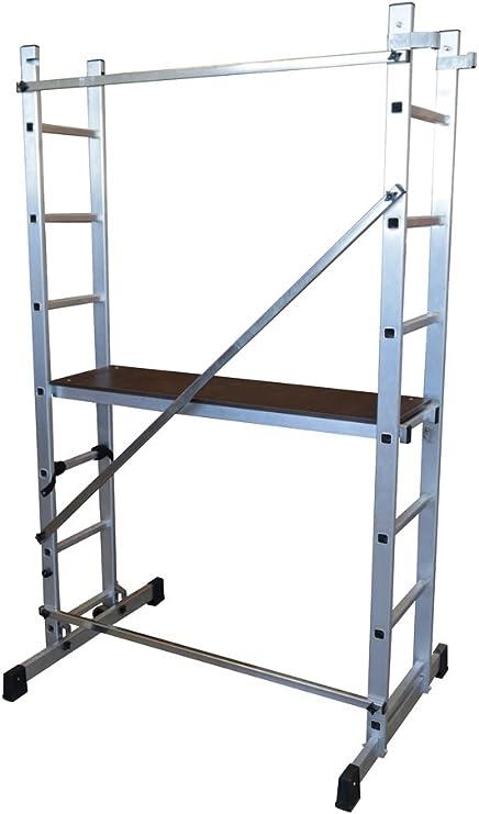 ALTIPESA Escalera - andamio Profesional de Aluminio 2x7 peldaños Multiusos: Amazon.es: Hogar