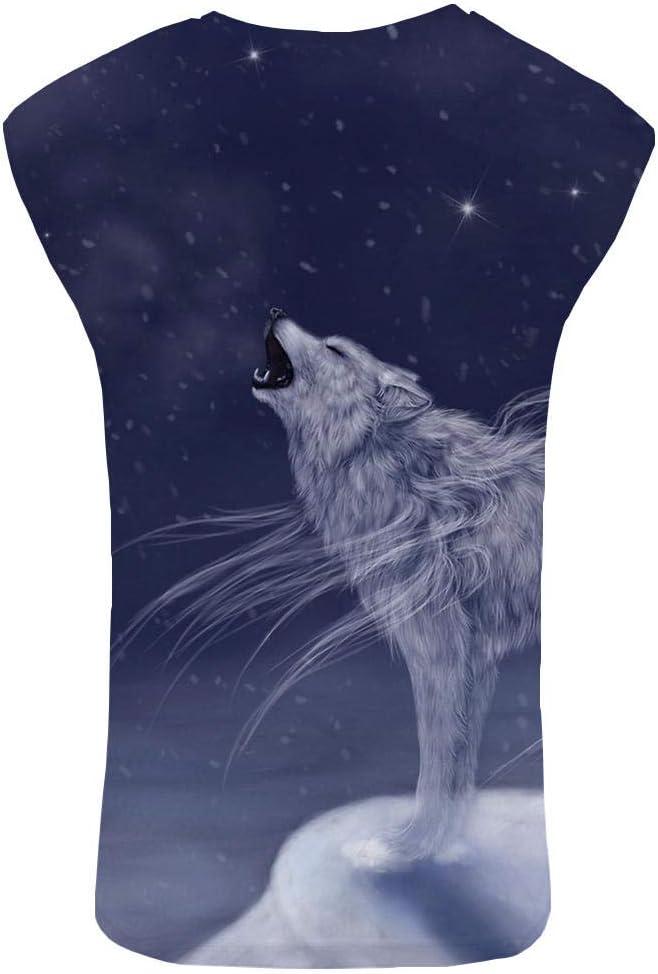 Star sourceCamisa 3DT Hombre Lobo Personalizada Nieve montaña Ropa Culturismo Cielo Fresco Camisa Animal: Amazon.es: Ropa y accesorios