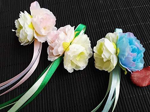 (Girls Ancient Ribbon Hair Clip Retro Flower Hanfu Headdress Classical Lovely)