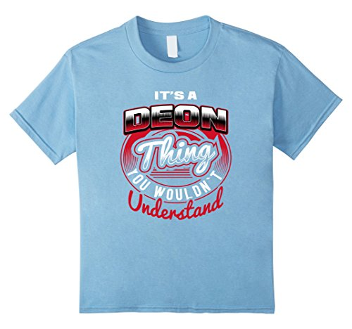 Kids DEON Name T-Shirts: It's A DEON Thing 12 Baby Blue