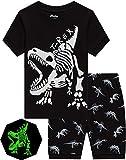 Pajamas for Boys Glow in Dark Dinosaur Short Pj Kids Cotton Sleepwear Toddler Baby Clothes 7t