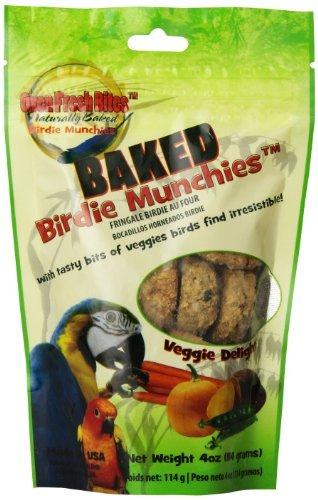 Birdie Bites - Oven Fresh Bites Birdie Munchies Pet Treat, Veggie, 4-Ounce by Oven Fresh Bites