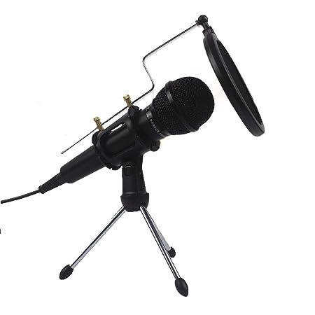 Micrófono de condensador para PC- USB Plug & Play Micrófono para ...
