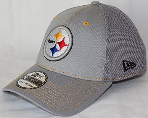 New Era Pittsburgh Steelers NFL 39THIRTY Gray Neo Flex Fit Hat