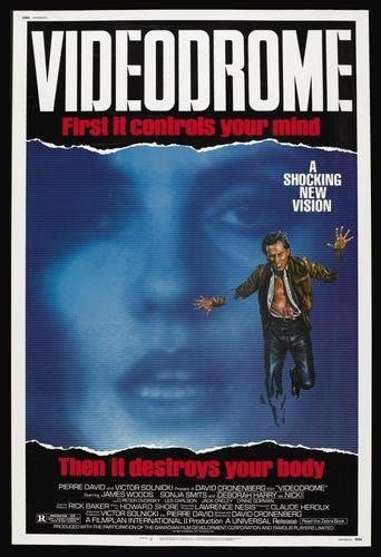 "Amazon.com: Videodrome Movie Poster 24""x36"": Prints: Posters & Prints"
