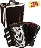 Hohner Panther Diatonic Accordion - Keys G/C/F Bundle with Hard Case and Austin Bazaar Polishing Cloth