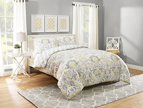 - Marble Hill Rayna Comforter Set, Queen, Grey