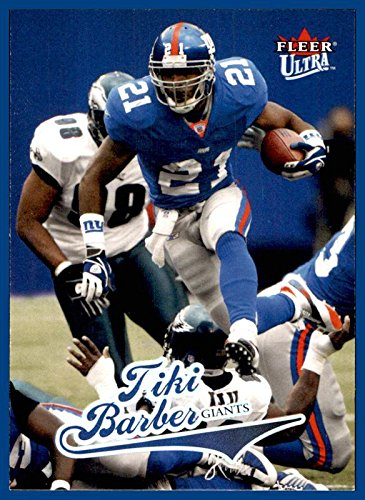 2004 Ultra #30 Tiki Barber NEW YORK GIANTS VIRGINIA CAVALIERS -