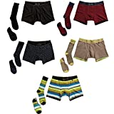 Related Garments Men's Matching Socks, No-show socks and Boxer Briefs: WeekDay 15 piece set MD