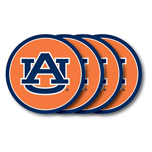 NCAA Auburn Tigers Vinyl Coaster Set (Pack of 4) ()