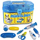 Children play house toy set blue doctor playing items for kids role playing game