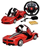 Toyshine 1:16 Ferrari Remote Control Car with Opening Doors, Rechargeable, Red