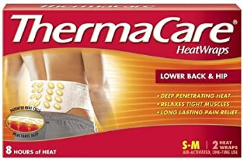 Thermacare Lower Back & Hip HeatWraps, L/XL, 8 Hour-2ct (Pack of 4)