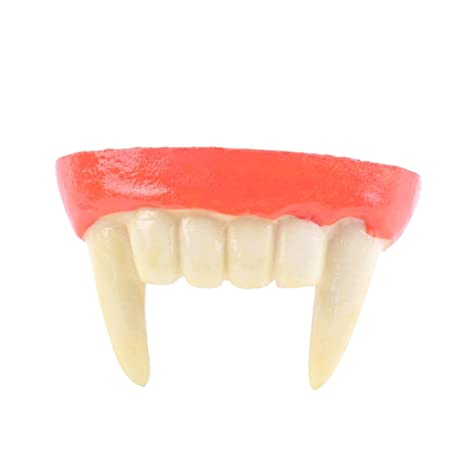 OULII Denti da Vampiro Finti Halloween Costume Travestimento  Amazon ... 8a9981e56063
