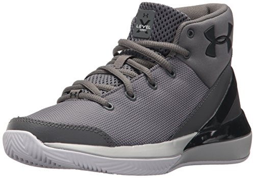 - Under Armour Boys' Grade School X Level Ninja Basketball Shoe, Graphite (100)/White, 5