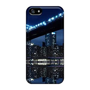 Awesome Case Cover/iphone 5/5s Defender Case Cover(magnificent Manhatten Bridge At Night)