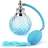 Lot 5 pcs Crystal Art Vintage Style Refillable Perfume Atomizer Long Spray Bottle (Blue)(100ml)