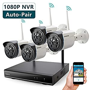5. ONWOTE 1080P HD NVR Outdoor Home Wireless Security Camera System