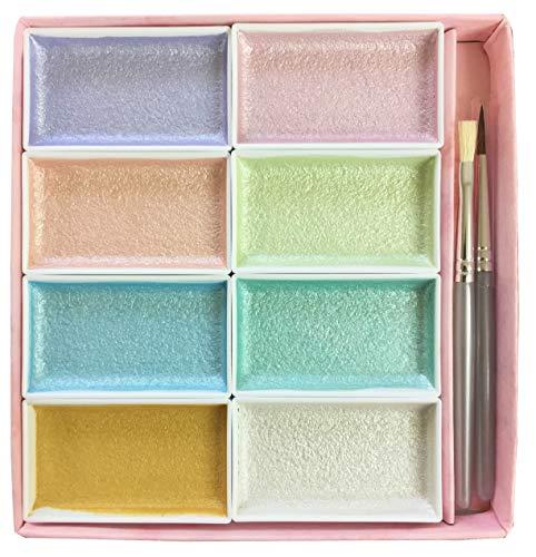 길상 일본화용 그림구 안채 펄 컬러 8 색세트