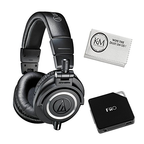 audio-technica-ath-m50x-professional-studio-monitor-headphones-black-with-fiio-e6-headphone-amplifie