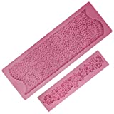 Funshowcase Pearls Fondant Cake Border Silicone Mold for Sugarcraft and Clay Wax Soap Crafting Projects