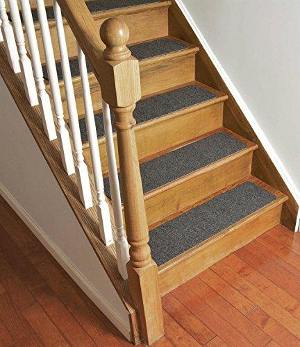 Stair Treads Collection Indoor Skid Slip Resistant Carpet Stair Tread Treads (Dark Grey, Set of 13 (8 in x 30 in)) by RugStylesOnline (Image #2)