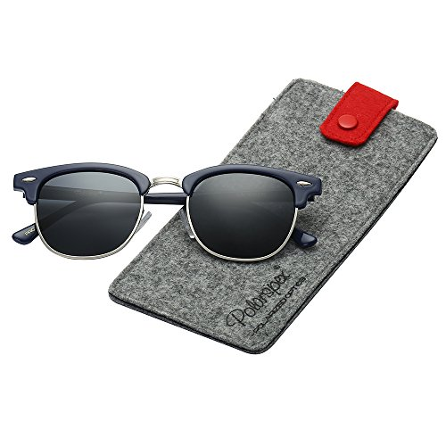 Polarspex Unisex Retro Classic Stylish Malcom Half Frame Polarized Sunglasses]()