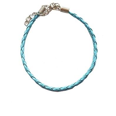 Braided Leather Ankle Bracelet Turquoise Amazon Co Uk Jewellery