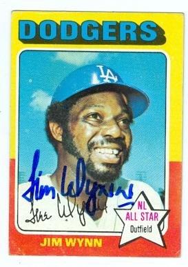 Jim Wynn autographed baseball card (Los Angeles Dodgers) 1975 Topps #570