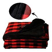 YIQIGO Baby Blanket Swaddle Kid Blanket Toddler Blanket bullskull (Red and Black)