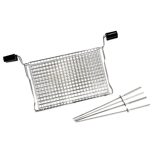 Cheap Ronco Ready Grill All Purpose Basket with Kabobs